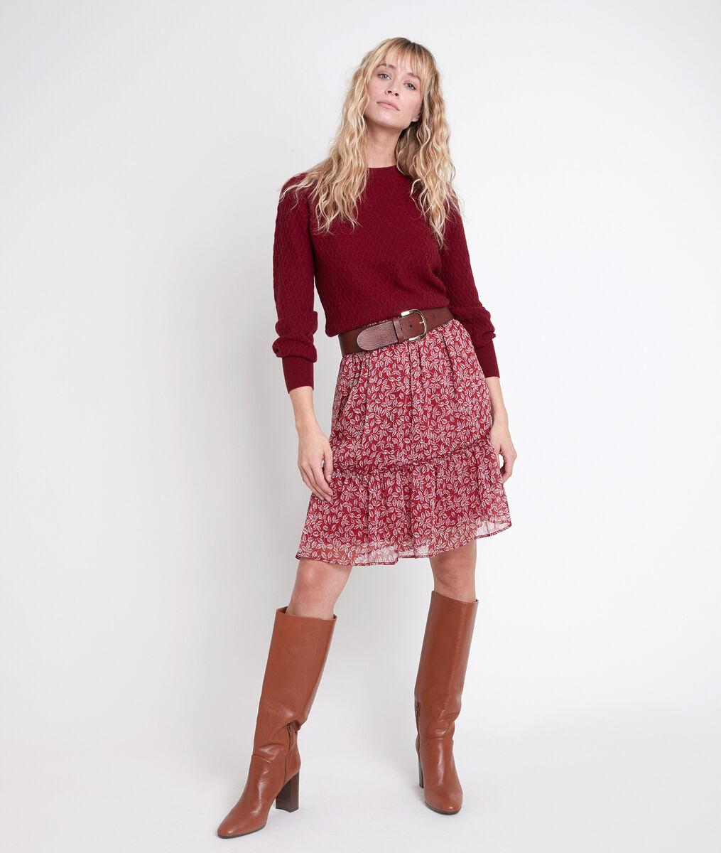 Pull en laine responsable rouge Alana PhotoZ | 1-2-3