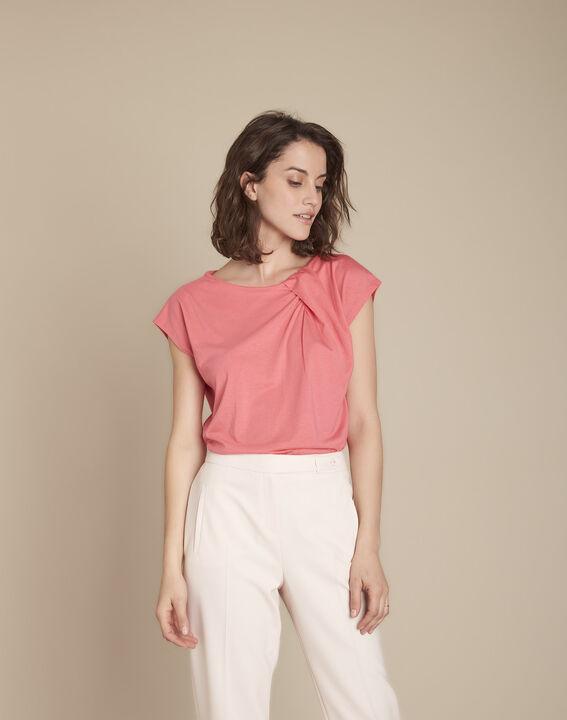 Tee-shirt rose drapé Caline PhotoZ | 1-2-3