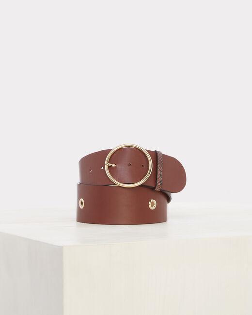 Ohana wide brown leather belt (1) - 1-2-3