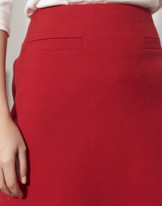 Jane red A-line skirt (3) - 1-2-3
