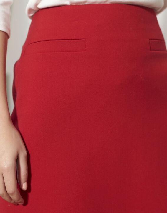 Jupe rouge trapèze à zip Jane (3) - 1-2-3