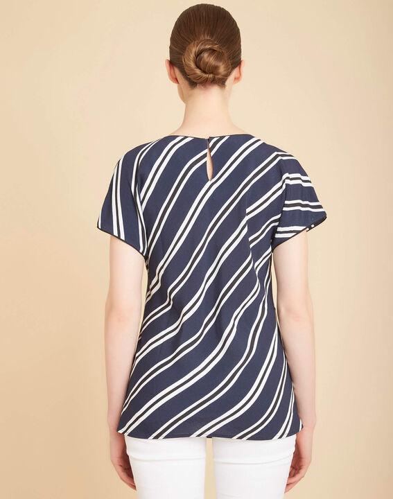 Marineblaues Streifen-T-Shirt Gavin (4) - 1-2-3