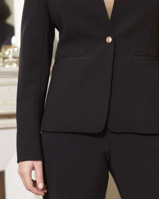 Majesté black collarless jacket (2) - 1-2-3
