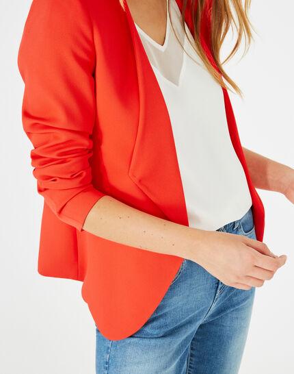 Veste rouge col tailleur Maite (4) - 1-2-3