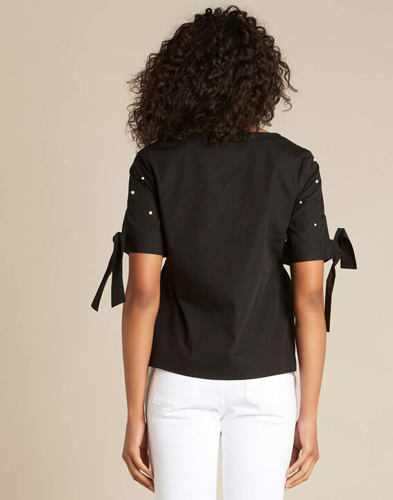 Glamour black blouse with beading (4) - 1-2-3