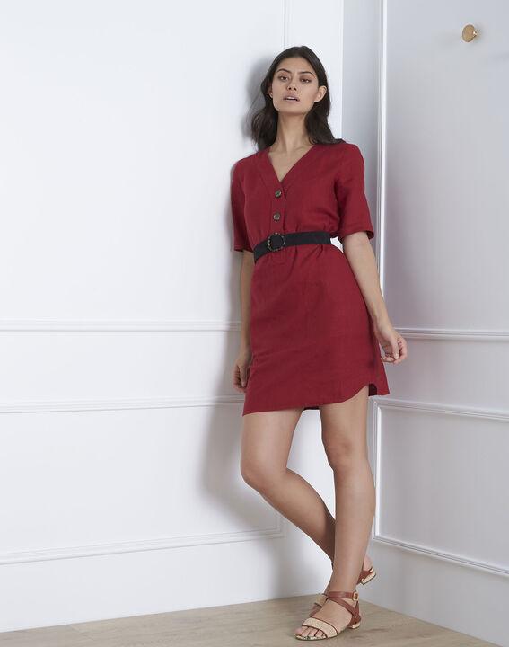 Robe rouge en lin Loanne (1) - Maison 123