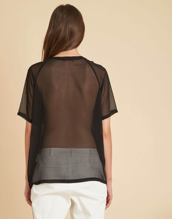 Galega black embroidered blouse in tulle (4) - 1-2-3