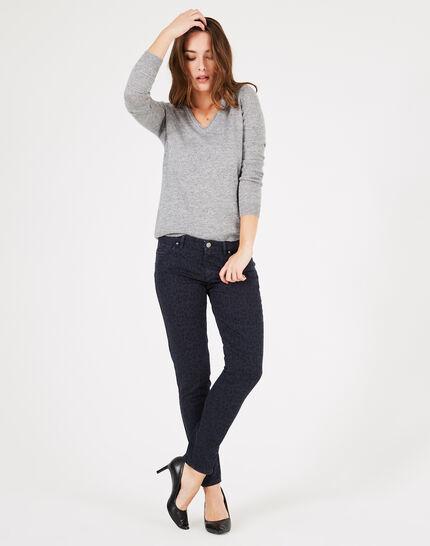 Marineblaue Jeans mit Print Passy (1) - 1-2-3
