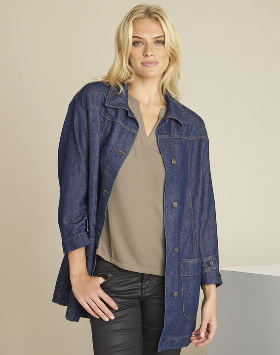 Sultan denim grosgrain coat (1) - 1-2-3
