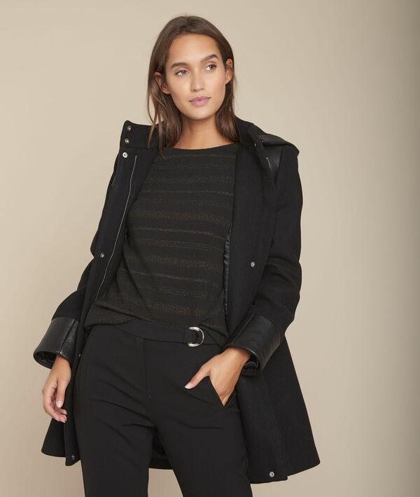 Manteau en laine mélangée noir Princesse PhotoZ | 1-2-3