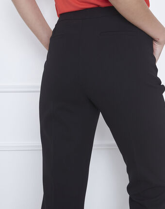 Hugo black straight-cut microfibre trousers with belt black.