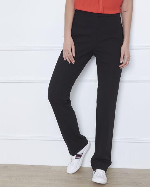 Pantalon noir droit en microfibre à ceinture boutonnée Hugo (1) - 1-2-3