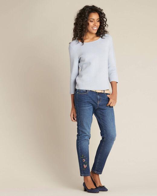 Neroli ice blue sweater with 3/4 length sleeves (1) - 1-2-3
