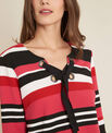 Eboreal striped red sweater with bow PhotoZ | 1-2-3