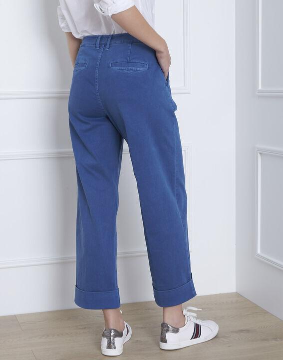 Kurze, ausgestellte Jeans in hellem Indigo-Blau Clara (4) - Maison 123