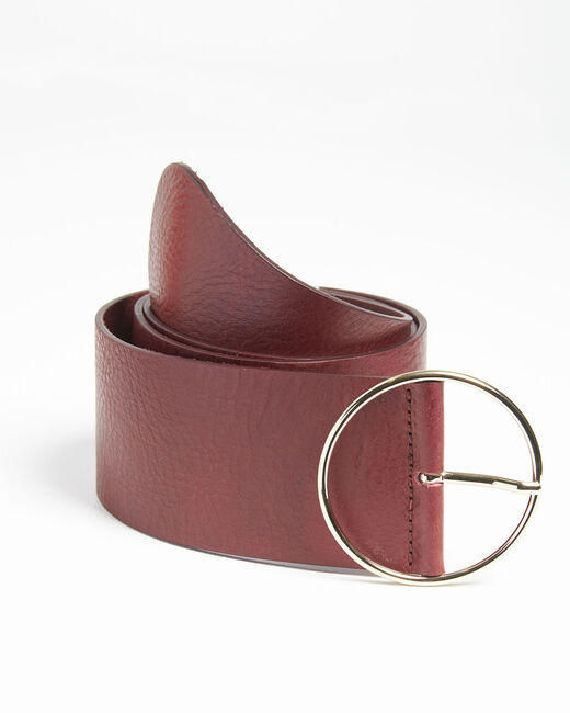 Ceinture rouge large en cuir Quettie (2) - 1-2-3