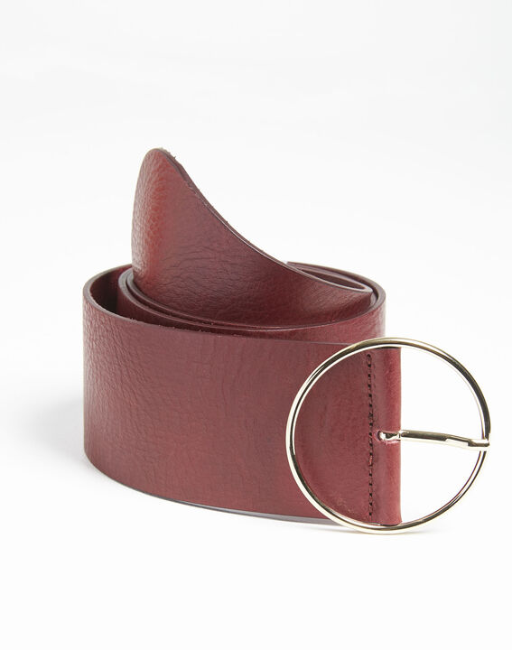 Ceinture rouge large en cuir Quettie PhotoZ | 1-2-3