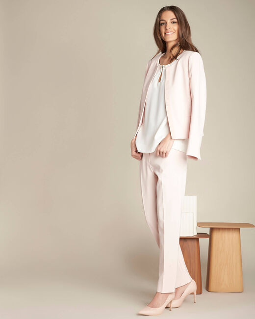 Valero tailored, pleated trousers in nude (1) - 1-2-3