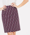 Fantastic navy blue straight-cut tailored printed skirt PhotoZ | 1-2-3