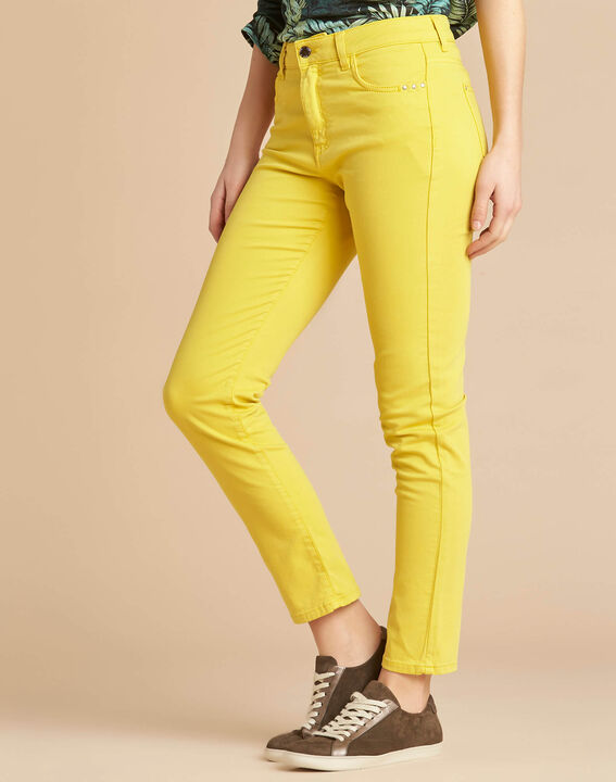 Vendôme slim-cut standard size lemon jeans (3) - 1-2-3