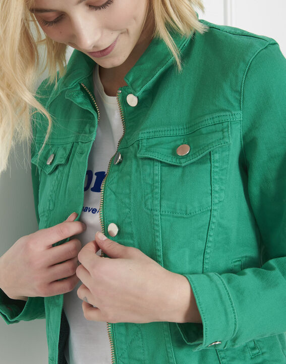 Veste en jean verte Clem (3) - Maison 123