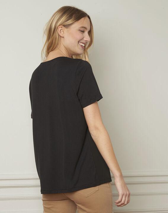 Valentine embroidered black blouse (3) - Maison 123