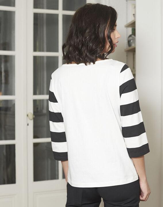 Tee-shirt noir à rayures Galinette (4) - Maison 123