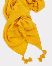 Foulard à pompon jaune edy sun.