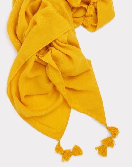 Foulard à pompon jaune Edy (2) - 1-2-3