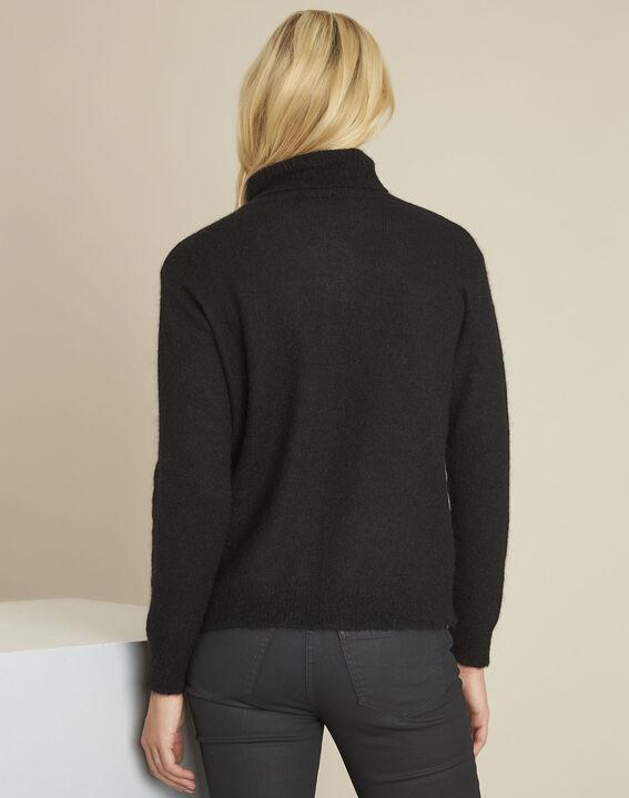 Bronze black turtleneck alpaca mix pullover (4) - 1-2-3