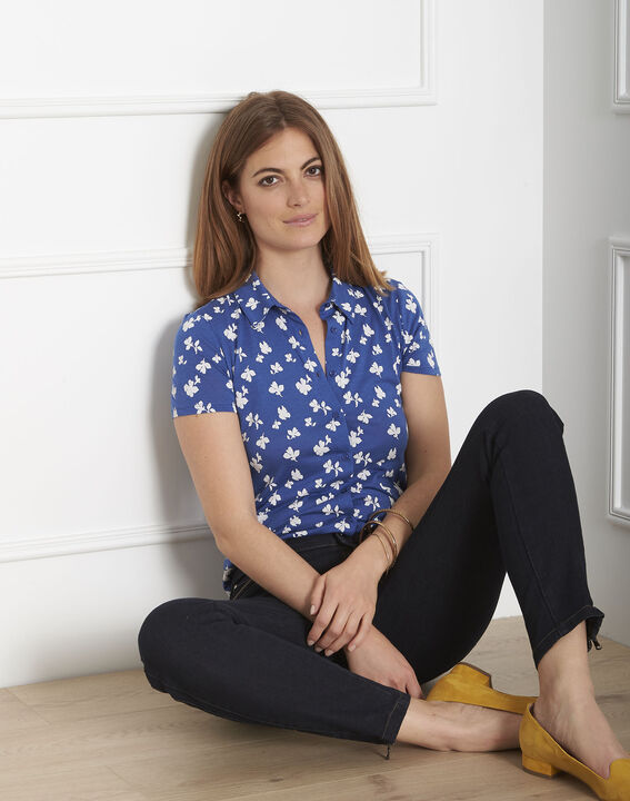 Blaues T-Shirt mit Print Patty PhotoZ   1-2-3