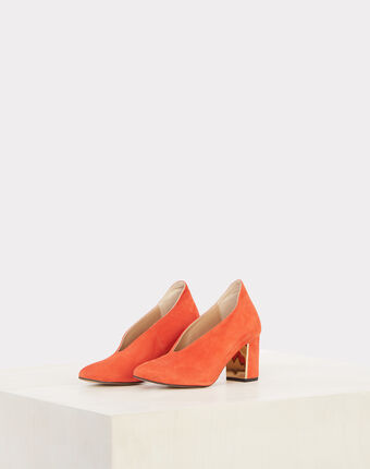 Escarpins orange en cuir naomi orange.