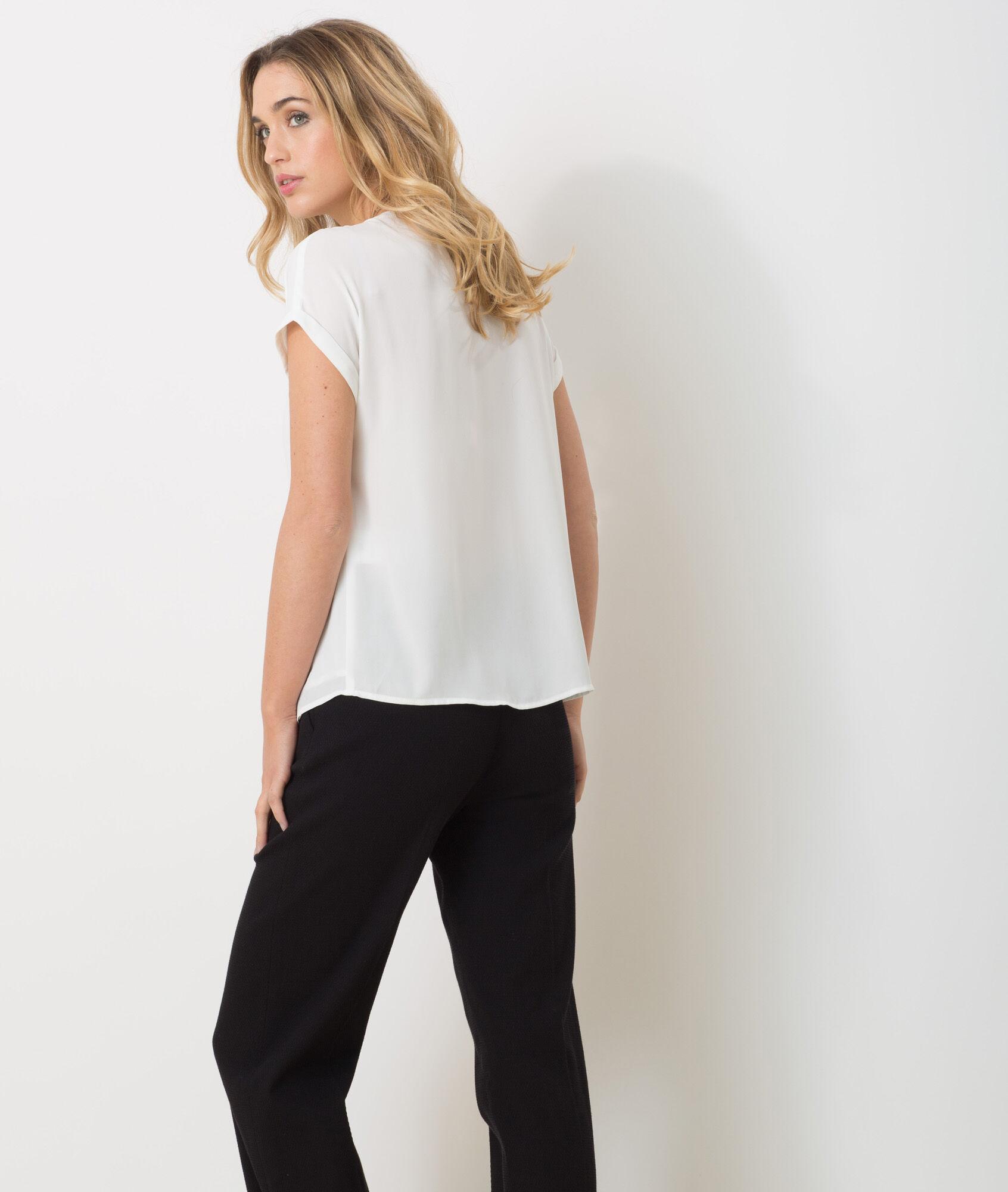 Robe chemise blanche dentelle