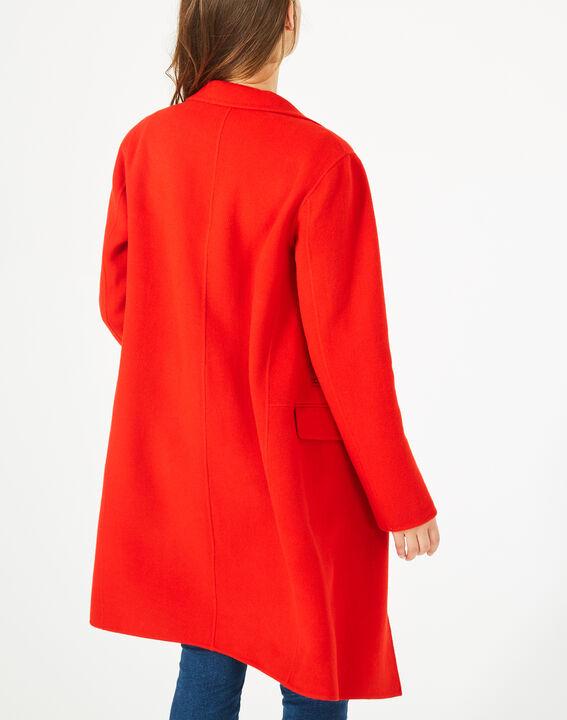 Manteau mi-long rouge en laine mélangée Jack (3) - 1-2-3