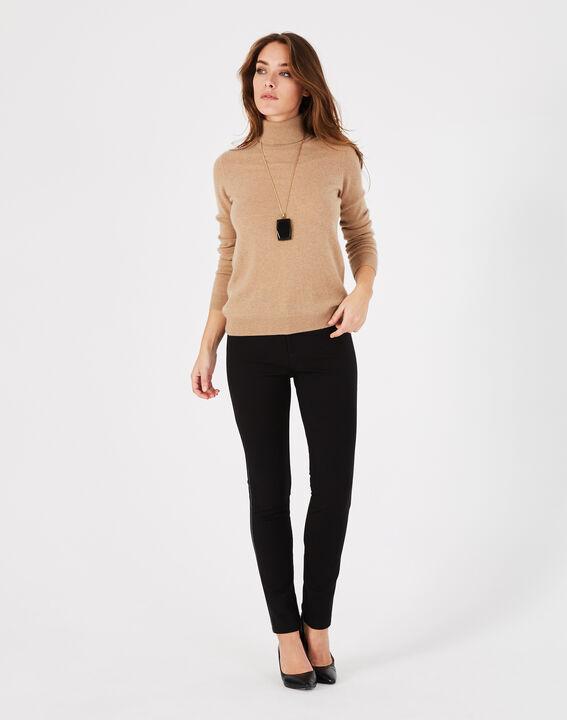 Pantalon noir imitation cuir slim Kali (5) - 1-2-3