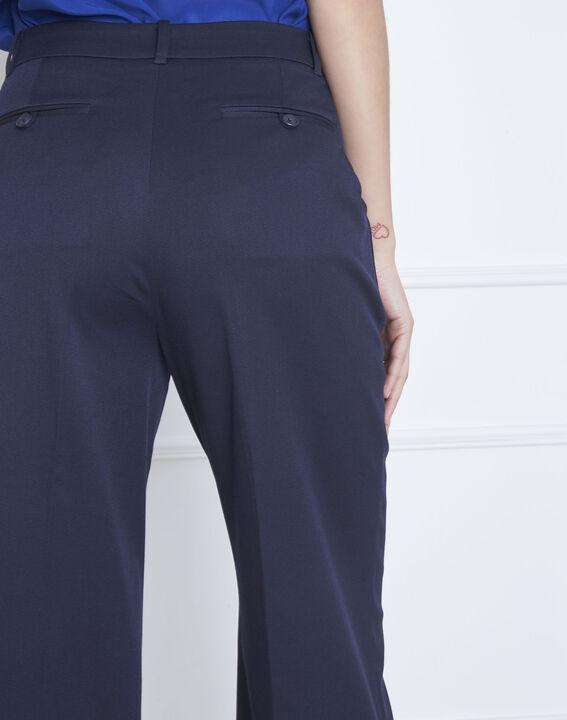 Pantalon bleu large à plis Gabin (4) - Maison 123