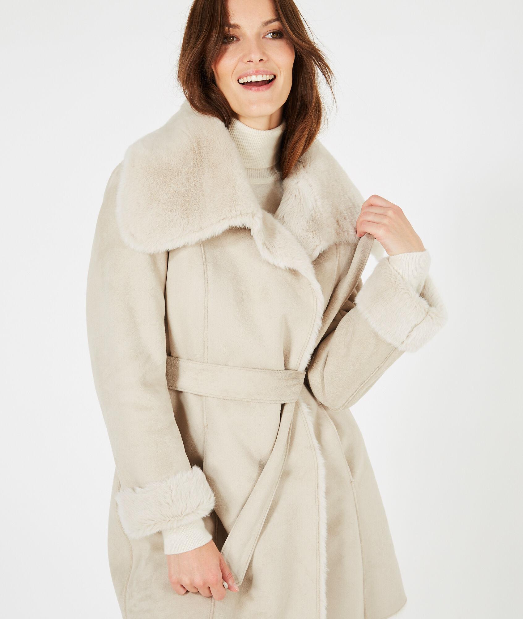 Mi Manteau 123 Peau Ficelle En Lina Long Lainée OwqFwTv5