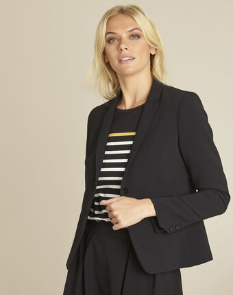 Eve black microfibre jacket black.