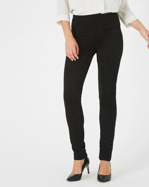 Pantalon noir slim milano et suédine Katia (2) - 1-2-3