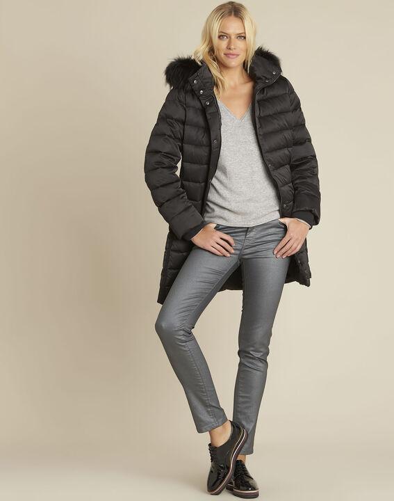Vendome grey slim-cut coated metallic jeans (2) - 1-2-3
