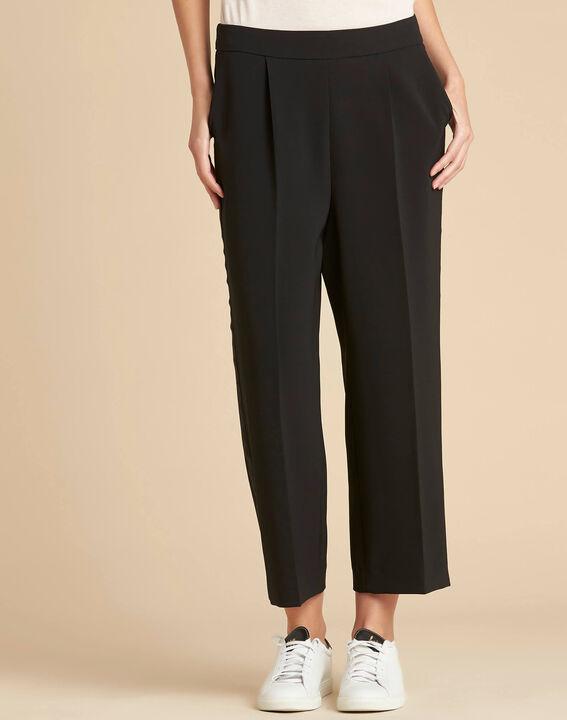 Pantalon noir large 7/8ème microfibre Vada (1) - 1-2-3
