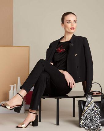 Zwarte slim fit 7/8-jeans vendôme noir.