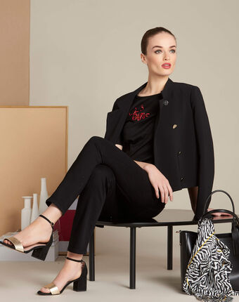 Vendôme 7/8 length black slim-cut jeans black.