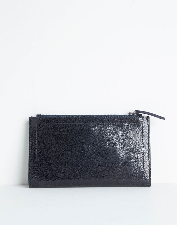 Dita wallet with two leather flaps in black (4) - 1-2-3