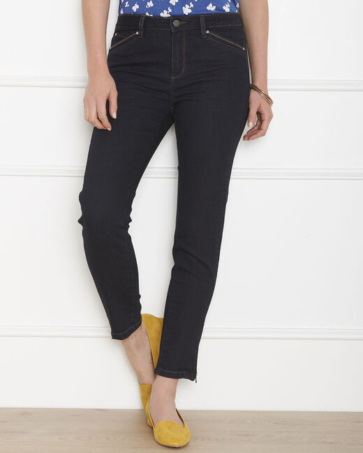 Opera slim-cut black jeans with zips at the waist (1) - 1-2-3