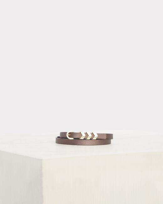 Orane fine grey leather belt (1) - 1-2-3