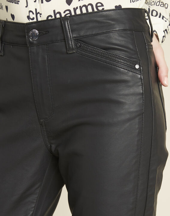 Opéra 7/8-length jeans in faux leather (3) - 1-2-3