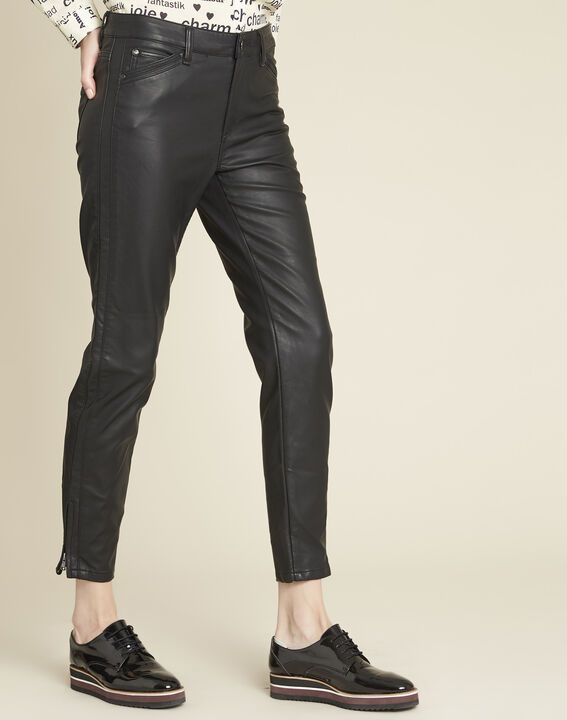 Opéra 7/8-length jeans in faux leather PhotoZ | 1-2-3