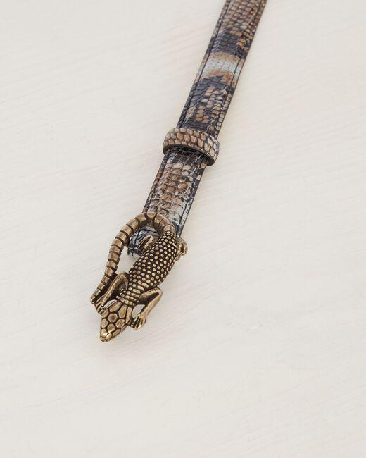 Oliver fine animal print belt in leather (2) - 1-2-3