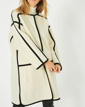 Manteau long noir et blanc josh noir/blanc.